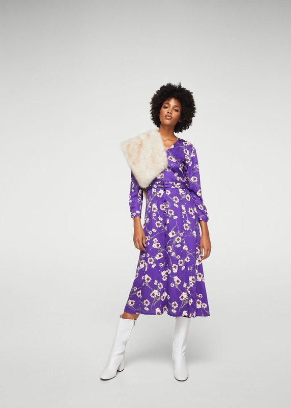 Pictured: Floral Patterned Dress from Mango