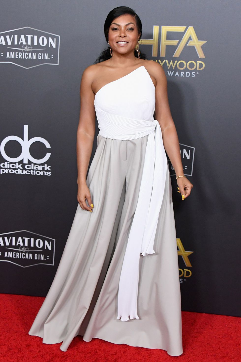 Who: Taraji P. Henson When: November 4, 2018 Wearing: Brandon Maxwell Why: Brandon Maxwell is a gift when it comes to Hollywood glamour, and Taraji P. Henson's outfit at the Hollywood Film Awards has it in spades. FYI, these are pants.